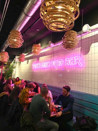 vegan junk food bar lights